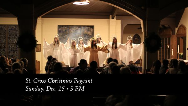 Pageant Rehearsals, The Longest Night, Christmas Services, a Wedding Shower, Crossroads
